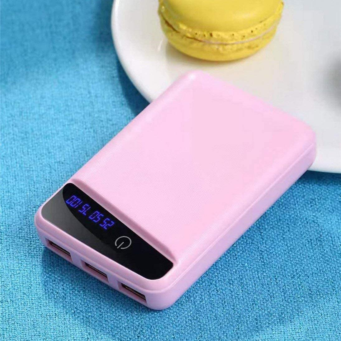 18650 DIY Battery Bank Caja de la Caja de la Carcasa de la batería 3USB Kit de Bricolaje Pantalla LCD Digital Shell (Rosa) ToGames-ES: Amazon.es: Electrónica