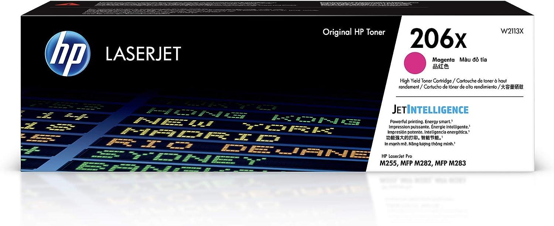 HP 206X   Toner Cartridge   Magenta   W2113X   High Yield