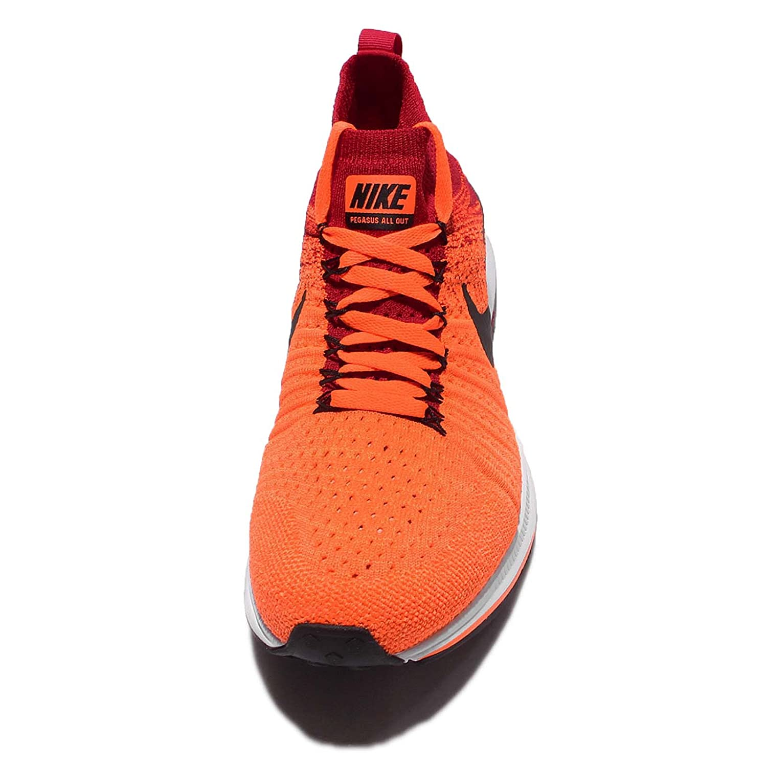 75e90542bd43 ... reduced amazon nike kids zm pegasus all out flyknit gs total orange  black university red youth
