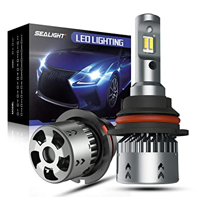 SEALIGHT Scoparc S2 9004/HB1 LED Headlight Bulbs, 9004 LED High Beam Low Beam, 1:1 Halogen Bulb Design, 6000K Bright White: Automotive