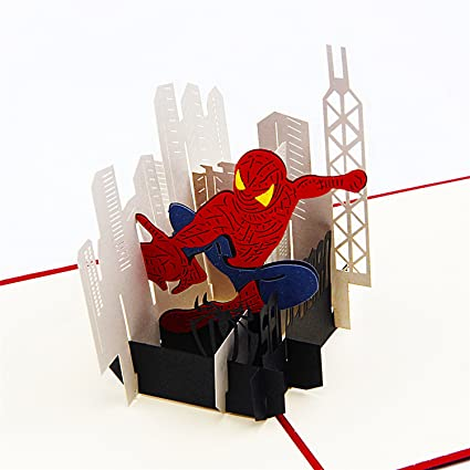 Amazon jerry maggie pop up greeting card spiderman card jerry maggie pop up greeting card spiderman card 3d paper greeting thank you m4hsunfo