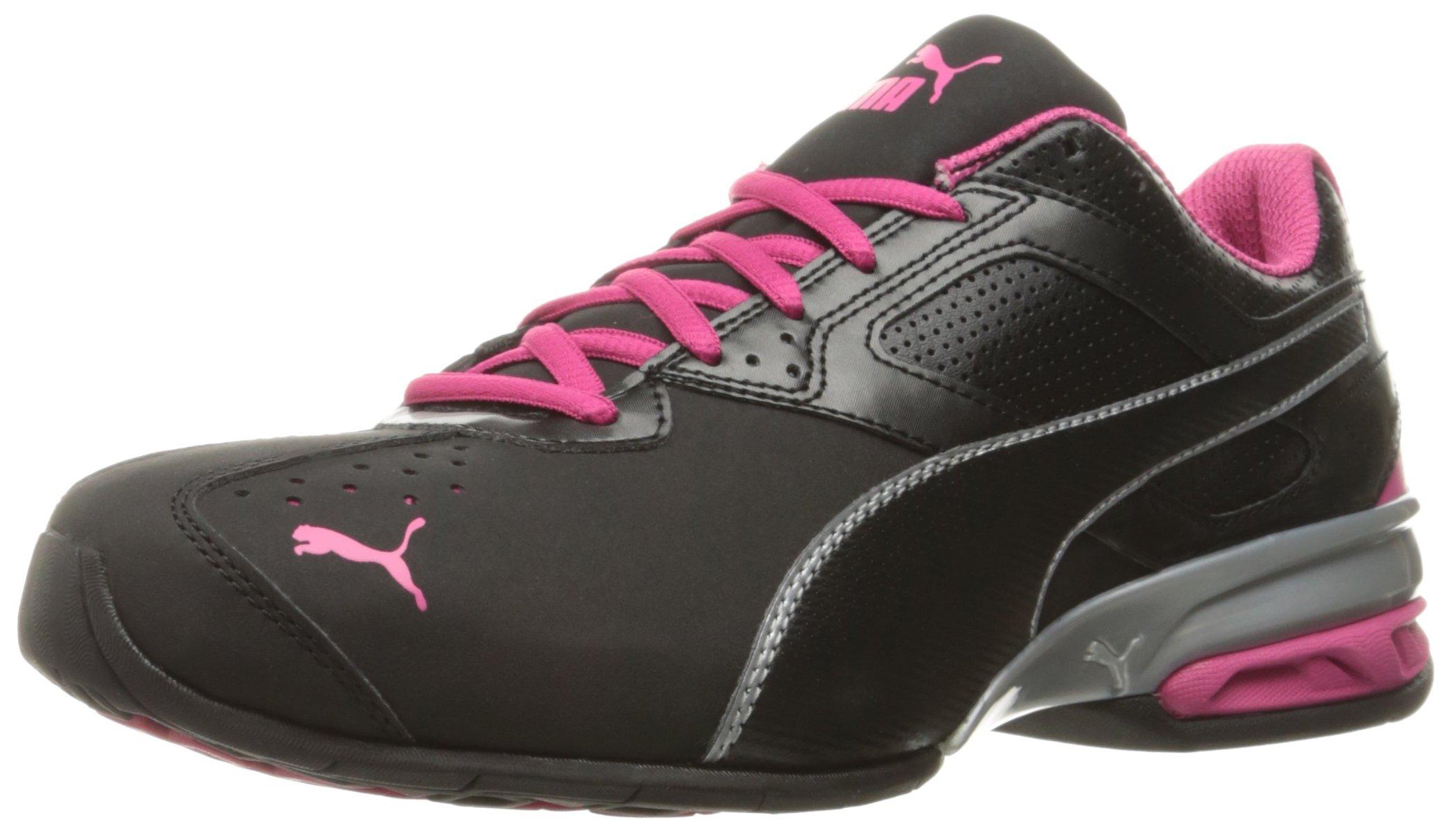 PUMA Women's Tazon 6 WN's Fm Cross-Trainer Shoe, Black Silver/Beetroot Purple, 9.5 M US