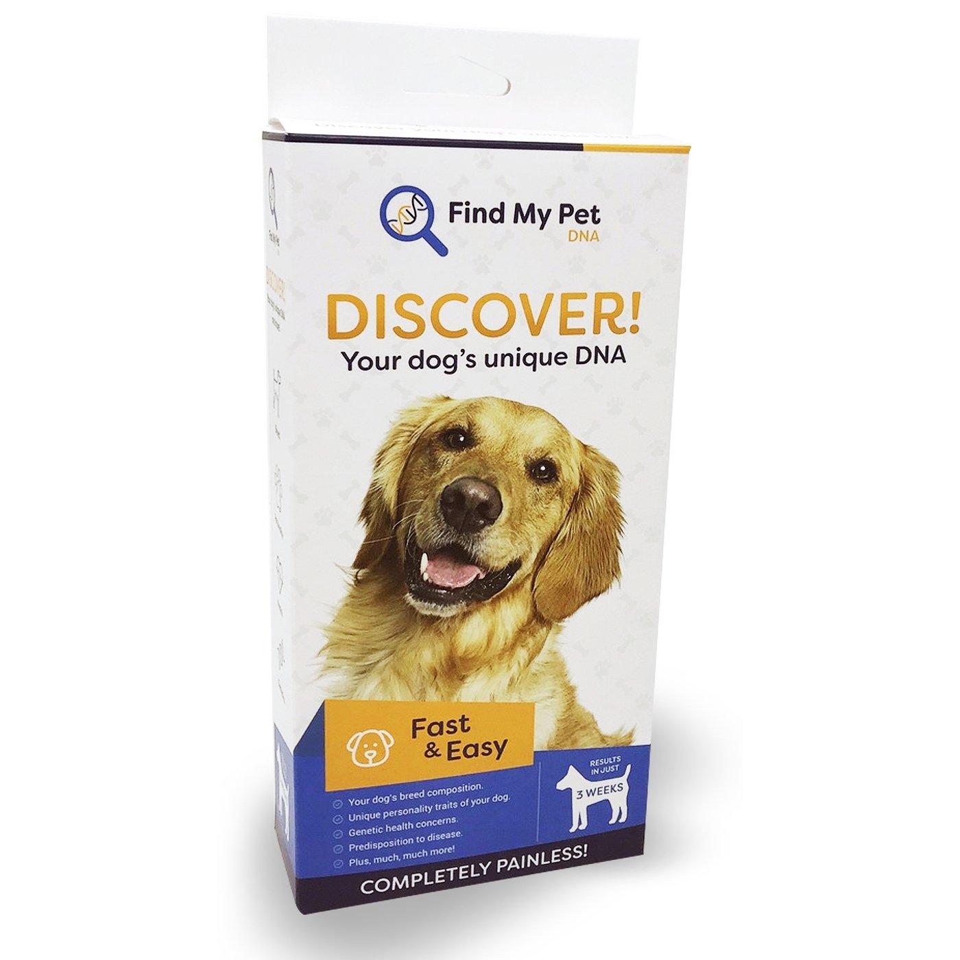 Find My Pet DNA 2.0 Dog DNA Test - Dog Breed Test kit, DNA Test for Dogs, k9 DNA Test, Your Dogs DNA Matters - 1 DNA Kit for Dogs (2 Pack)