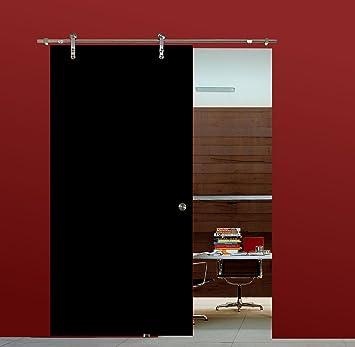 Correderas de cristal puerta de cristal corredera puerta VSG de alto brillo negro 900 x 2050 mm incluida de parada de acero inoxidable para puerta corredera de herrajes BV900BA: Amazon.es: Bricolaje y