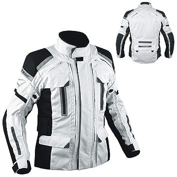 A-PRO 4 Capas 4 Seasons chaqueta desmontable térmica impermeable Moto Blanco S