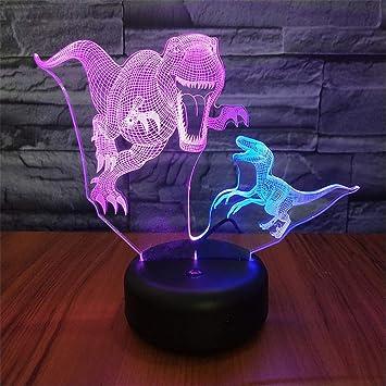MGU Luz de la noche infantil Diente Dragón 3D Lámpara de mesa ...