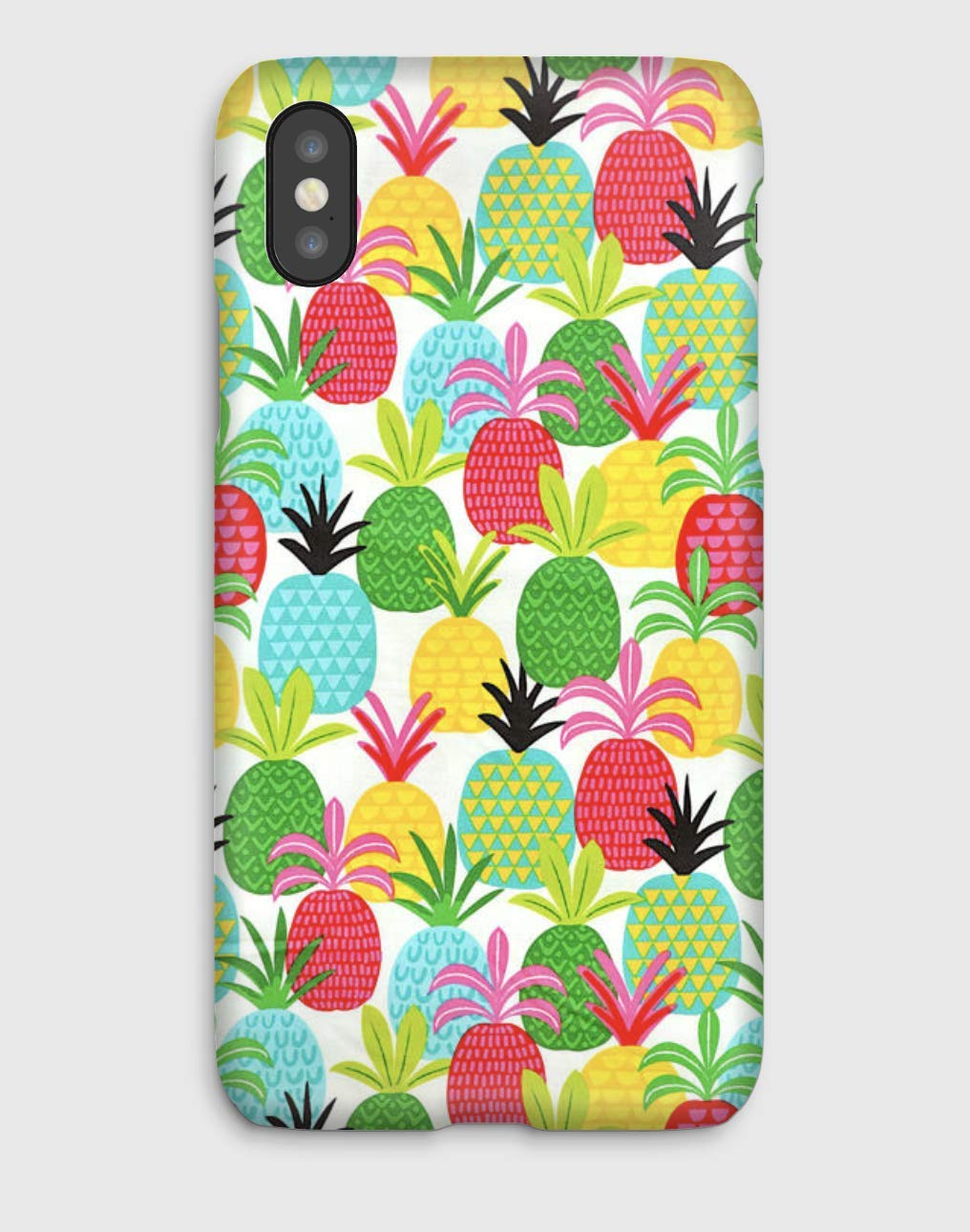 Ananas Fields Funda para el iPhone XS, XS Max, XR, X, 8, 8+, 7, 7+, 6S, 6, 6S+, 6+, 5C, 5, 5S, 5SE, 4S, 4,