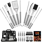 OlarHike BBQ Grill Accessories Set for Men, 22PCS Grilling Accessories Set, Stainless Steel BBQ Tools Gift Utensil with…