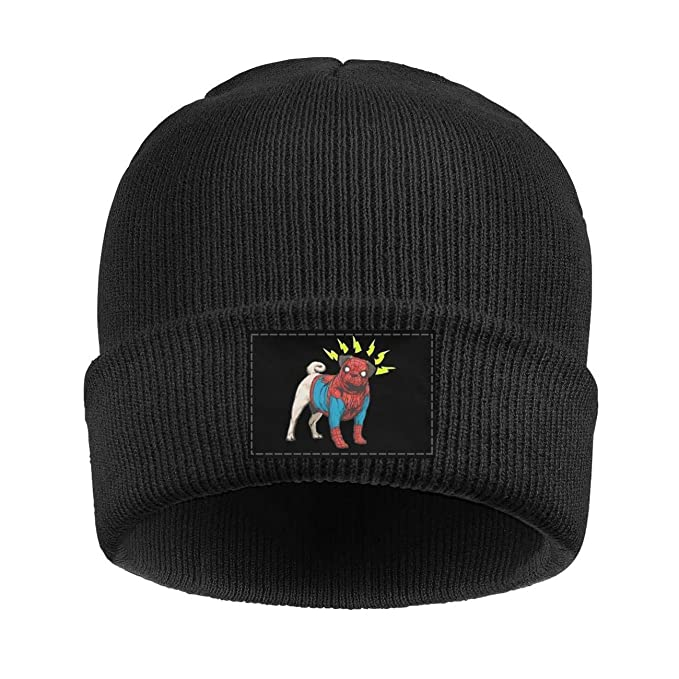 Amazon.com  Jhigbdj Beanie for Women Men Unisex Pug Dog Cosplay Superhero  Warm Winter Knit Beanies Hats  Clothing 4605563c8