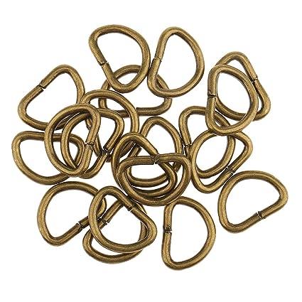 baskets Super remise acheter MagiDeal 100pcs Demi Anneau Métal DIY Boucle Pour Ceinture Sac à Main  Crochet Collier De Chien - Bronze, 10x6x1.5mm