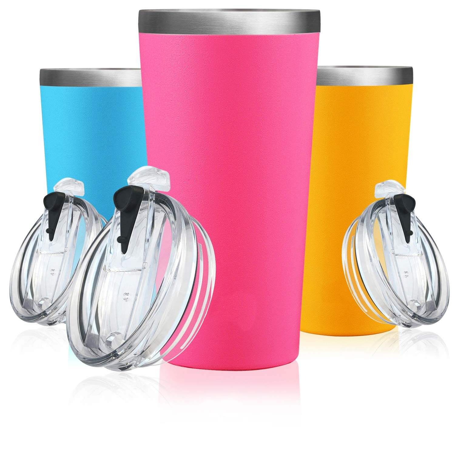 32 oz, Champagne Gold Lightning Deal Insulated Tumbler-Double Wall Stainless Steel Travel Coffee Mug Pancake Day BPA Free Carnival Thermo Cup No Sweat Water Flask Vacuum Bottle FDA