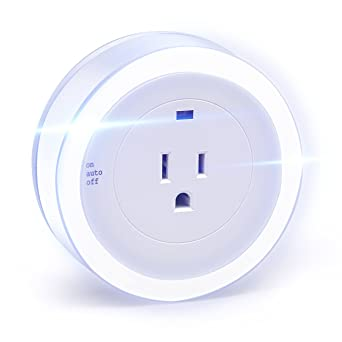 LED Concepts PlugIn LED Night Light with Outlet Dusk to Dawn