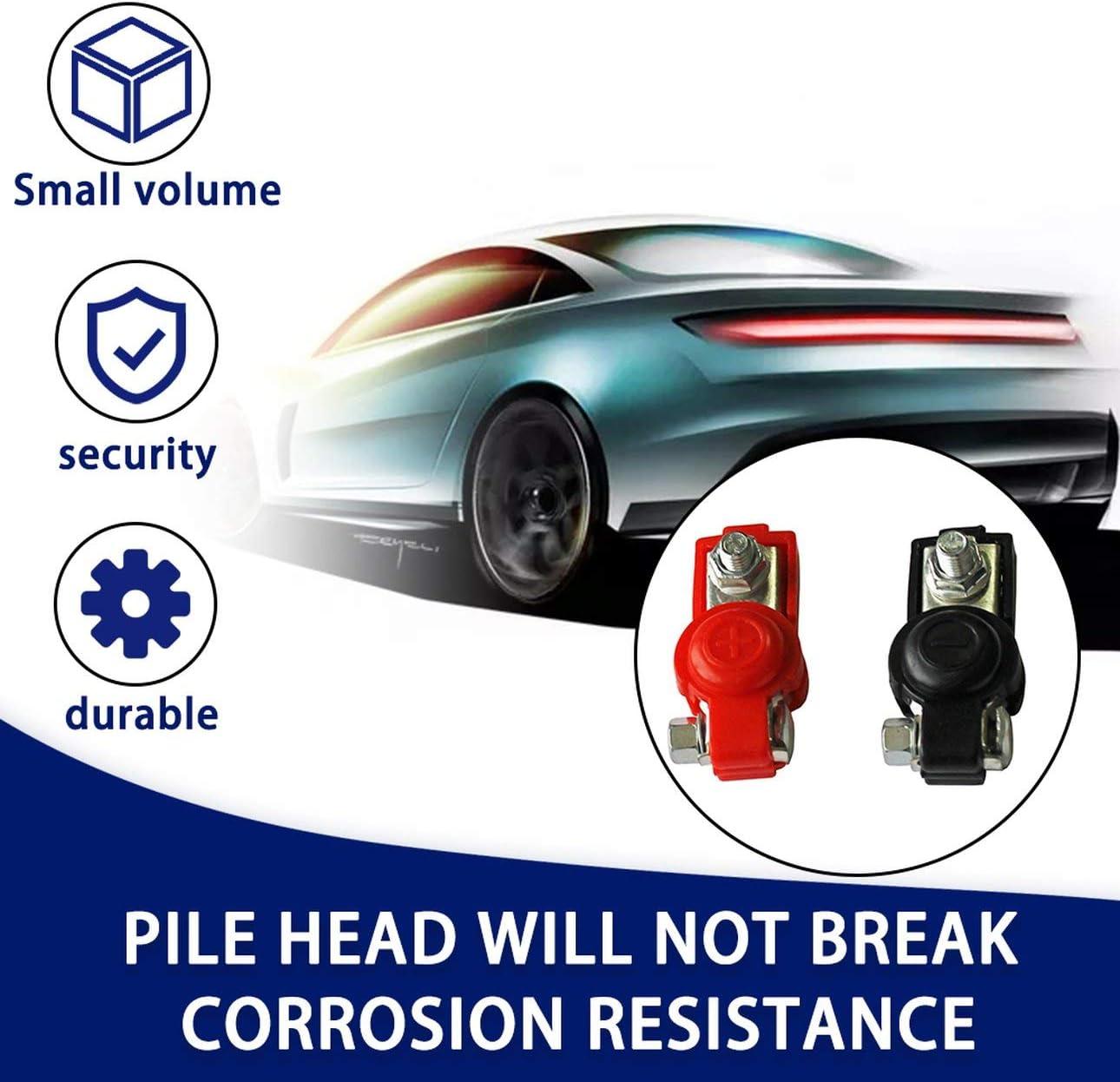 Ba30DEllylelly 2-teilige Batterie-Schnellverschlussklemmen 6-12-V-Polklemmen Autobatterieklemmen Schwarzer und roter Farbanschluss