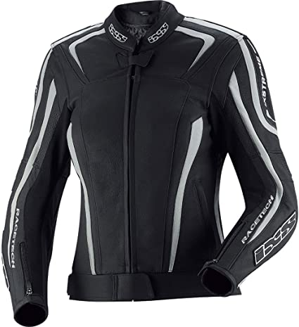 iXS Lederjacke Damen Naomy | Schwarz | Motorradjacke aus