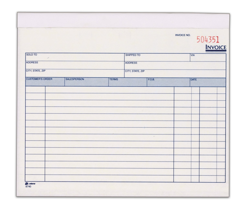 Amazoncom Adams Invoice Book Part Carbonless X - Adams invoice dc5840