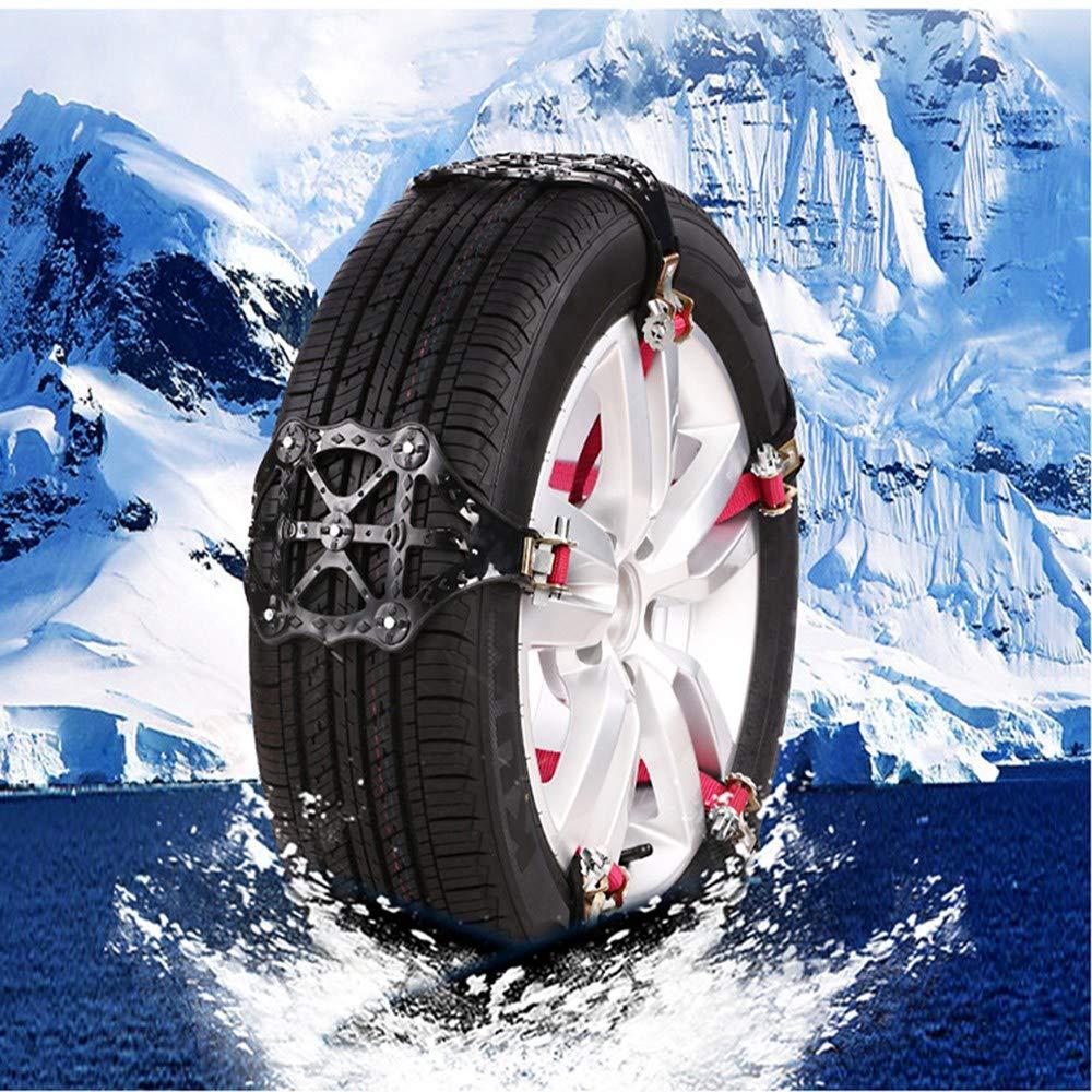 12PCS Cadenas de nieve, UMIWE neumáticos antideslizantes Cadenas Fácil de montar para auto SUV Cadenas de seguridad para conducción en invierno para ...