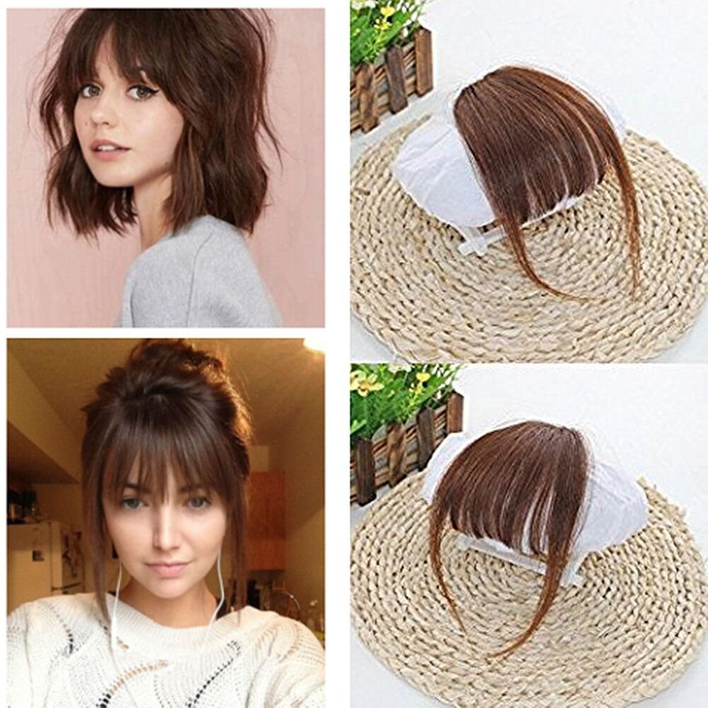 Amazon Com Rossy Nancy 4 Brazilian Human Hair Clip In Hair Bang