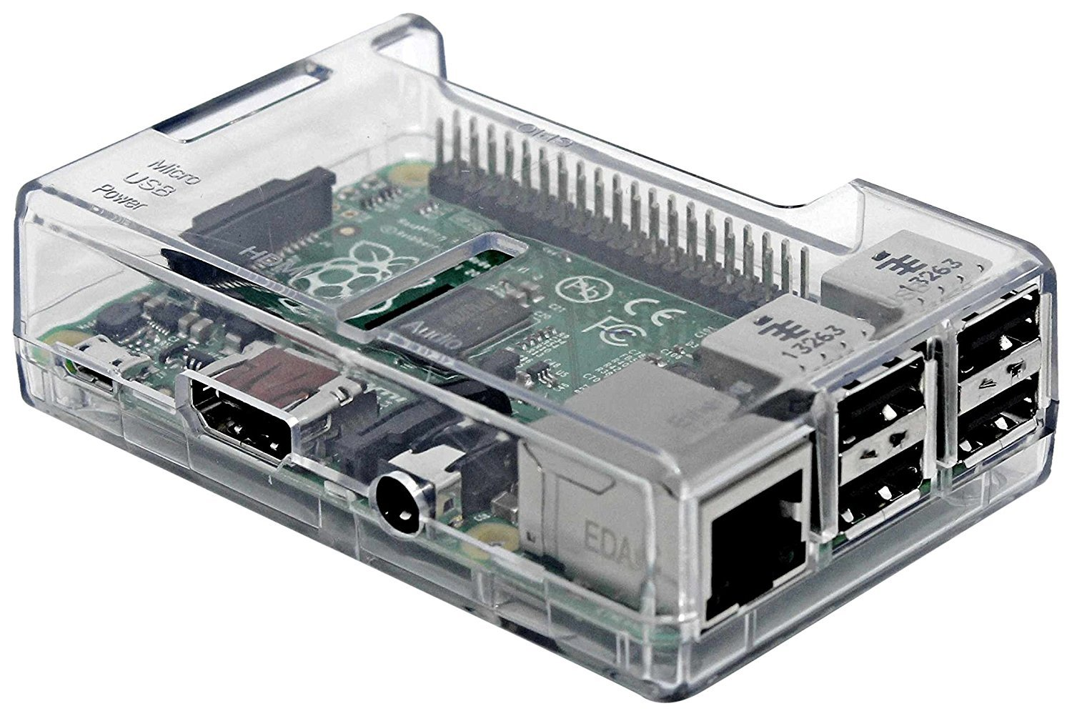 Raspberry Pi 3 Clear Case