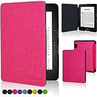 Capa para Kindle Voyage - FIT Couro PU Rígida - Fecho Magnético (Pink)