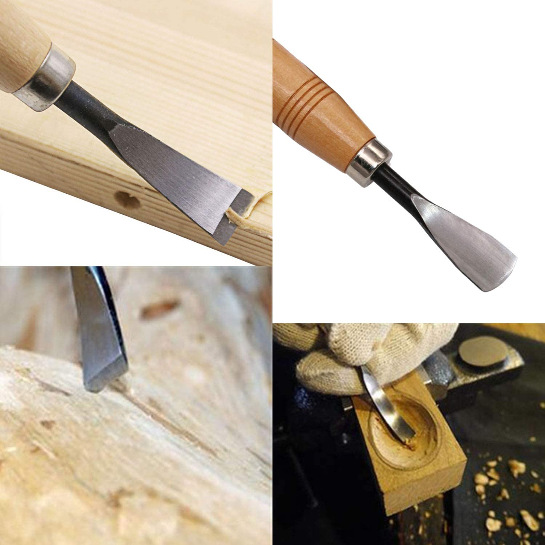8 en 1 KEESIN Juego de herramientas para tallar madera escultura cuchillos para carpinter/ía