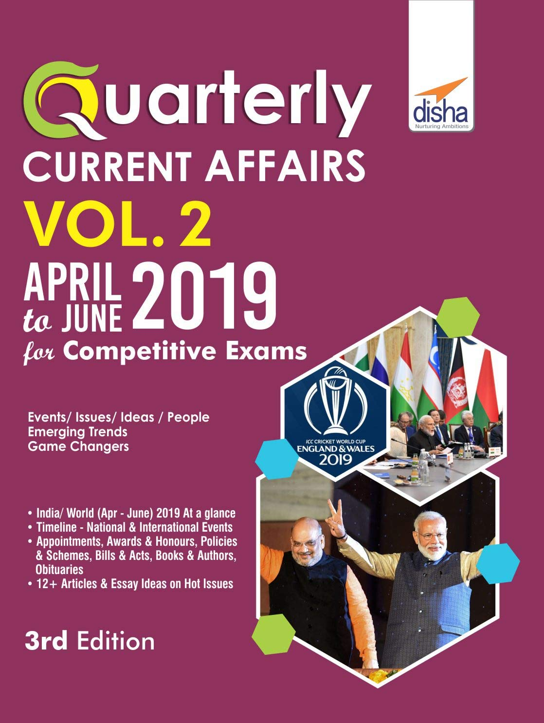 Buy Quarterly Current Affairs Vol  2 - April to June 2019