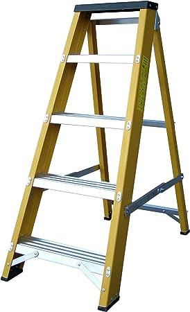 Lyte - Escalera de 5 peldaños (fibra de vidrio, hecha en el Reino ...