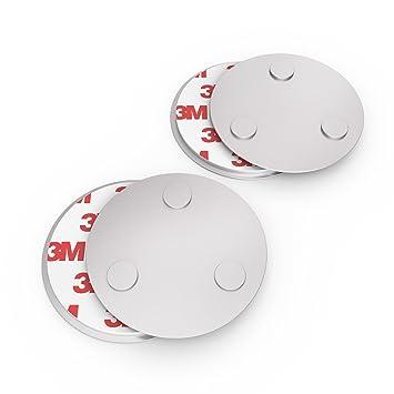 10 Stück Magnetbefestigung 3M für Rauchmelder Magnetpad Magnethalter Ø7cm