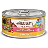 Whole Earth Farms Small Breed Grain Free Wet Dog Food, Chicken Dinner (24) 3 oz Cans