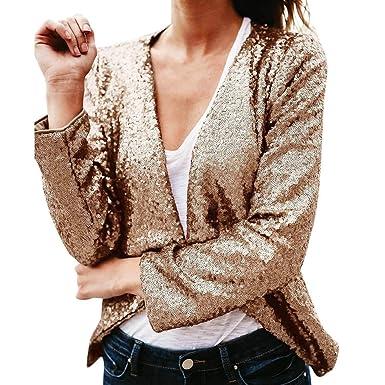 super service design de qualité recherche d'authentique WINJIN Veste Femme, Veste à Sequins et Coupe Slim Femmes à ...