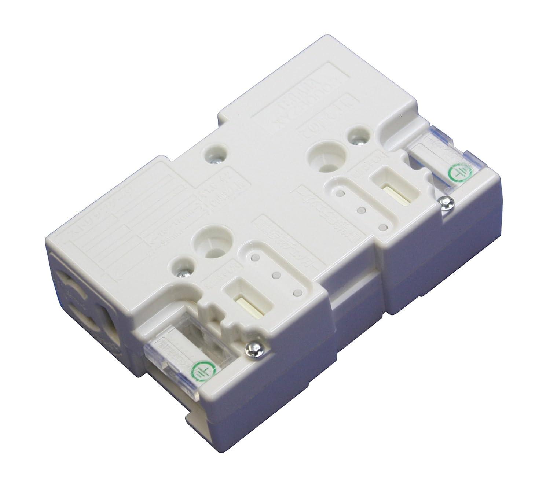 【寺田電機製作所】 ブロックコンセント 2分岐(白) 10個入り XYZ80002W-J10 B013ORQ4O6