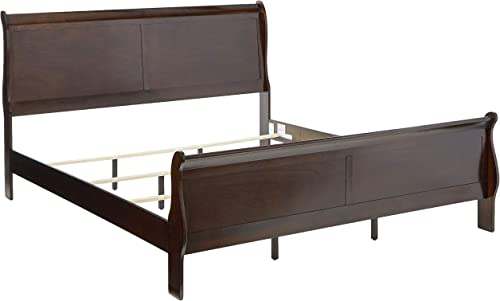 Coaster Home Furnishings Louis Philippe Panel Sleigh Cappuccino Eastern King Bed