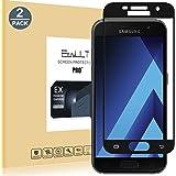 [2-Pack]Samsung Galaxy A3 2017 Pellicola Protettiva, EasyULT 2 Pack Copertura Completa Pellicola Protettiva in Vetro Temperato per Samsung Galaxy A3 2017-Nero(Bordi Arrotondati da 2,5D-Shockproof)