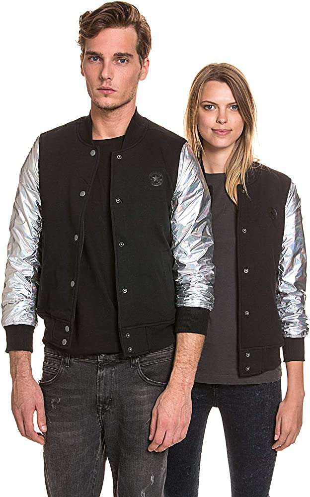 Converse College Jacket Veste de Baseball ajustée pour