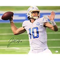 $274 » Los Angeles Chargers Justin Herbert Signed Autograph '1st TD Pass' 16x20 Photo…