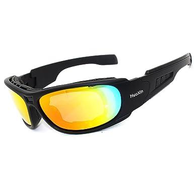 cb4d9d34aadf Polarized Designer Tactical Military Sunglasses 4 Set Interchangeable Lenses  (Black, Gray)