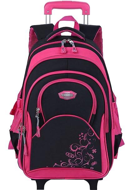 foto ufficiali 6311e dea3f Zaino Scuola Trolley, Coofit Zaino Trolley Scuola Elementare per Bambina  con Rotolamento Ruote