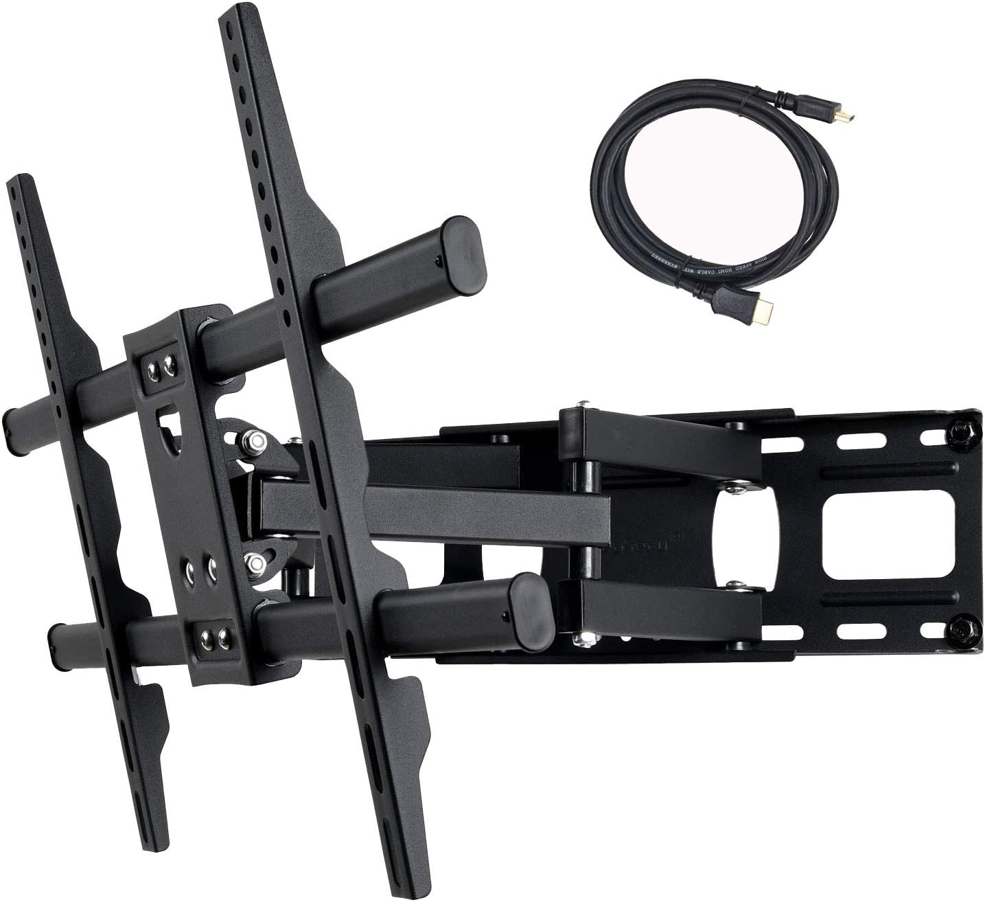 "VideoSecu MW380B5 Full Motion Articulating TV Wall Mount Bracket for Most 37""-75"" LED LCD Plasma HDTV Up to 125 lbs with VESA"