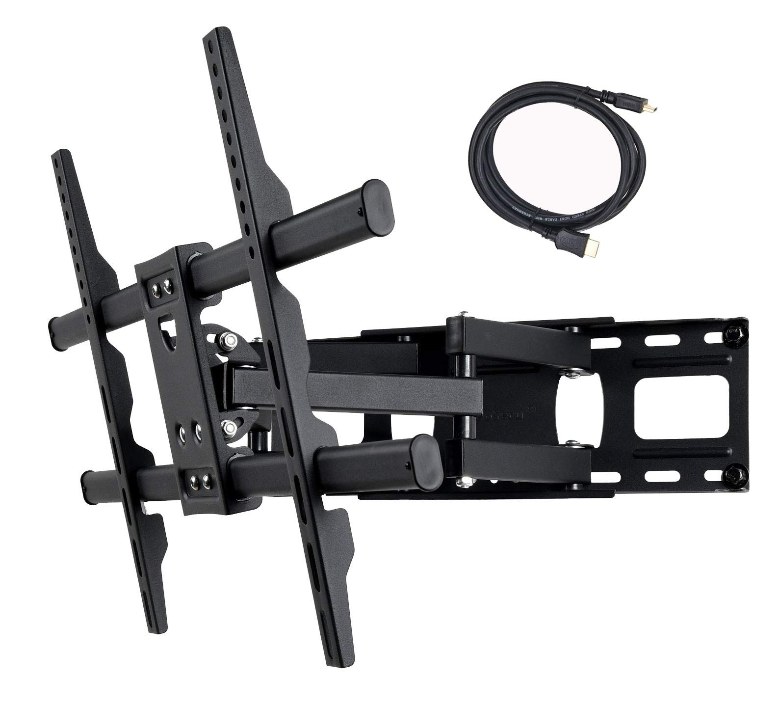 VideoSecu MW380B5 Full Motion Articulating TV Wall Mount Bracket for Most 37''-75'' LED LCD Plasma HDTV Up to 125 lbs with VESA 684x400 600x400 400x400 150x100mm, Dual Arm Pulls Out Up to 14'' AW9 by VideoSecu