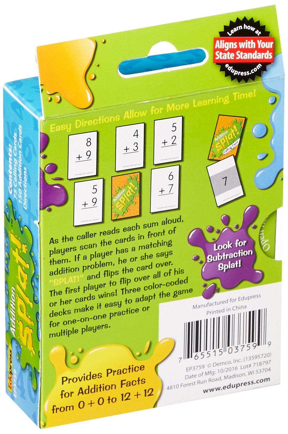 Amazon.com: Edupress Splat Game, Addition (EP63759): Office Products