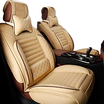5 Seats PU Leather Car Seat Cover Universal Cushion Full Set