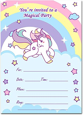 amazon co jp magical unicorn party invitations with envelopes