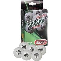 GKI Superb 3 Star ABS Plastic 40+ Table Tennis Ball, Pack of 12 (White)