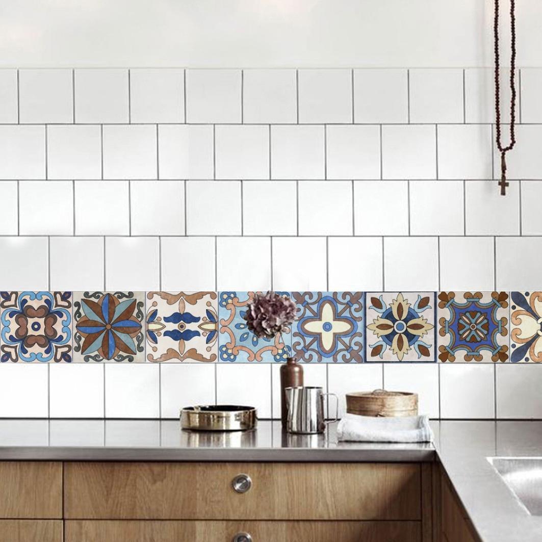 OHQ Fliesenaufkleber Küche Bad dekorieren PVC Fliesen überkleben ...