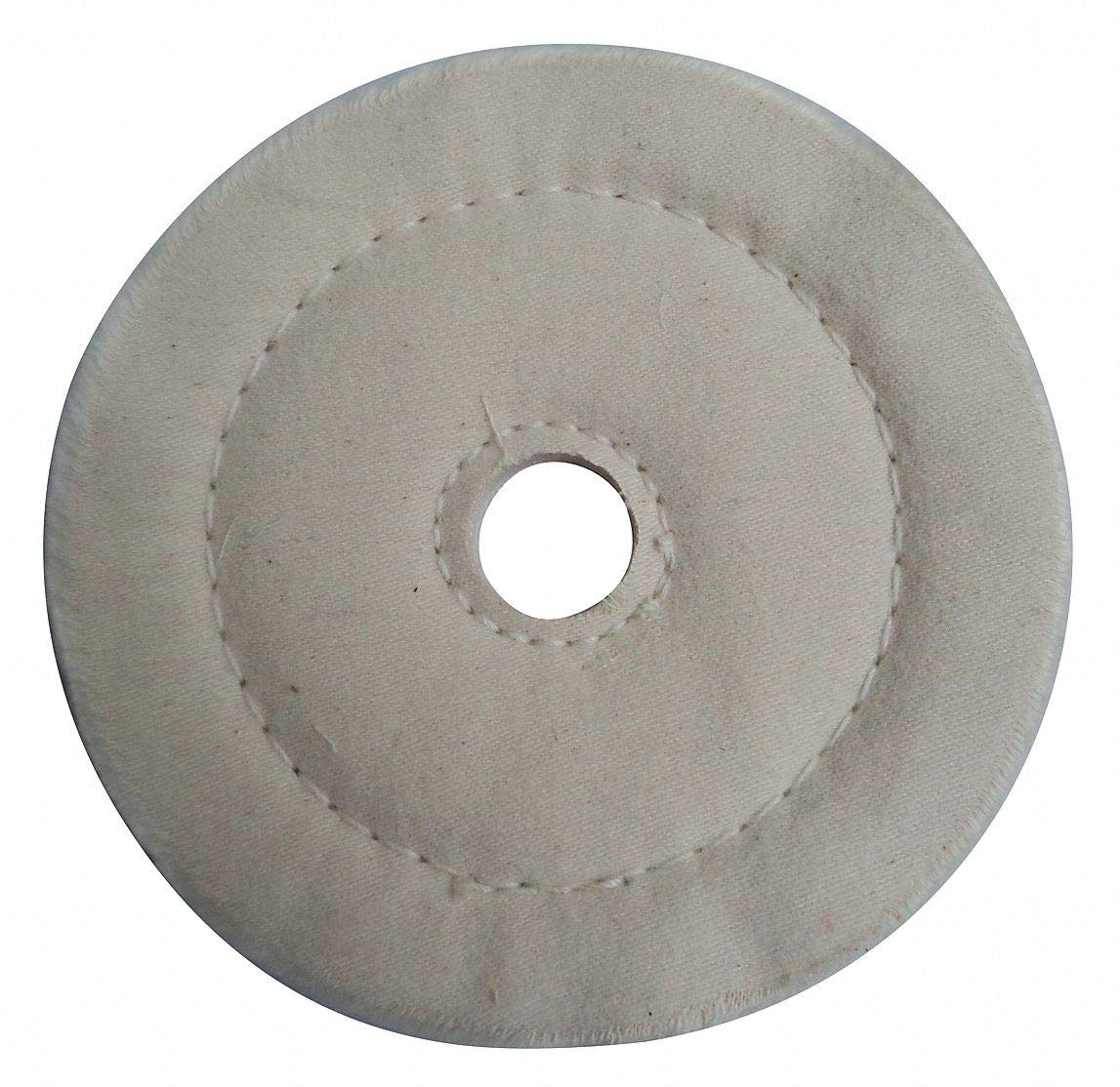 Buffing Wheel, Cushion Sewn, 8 In Dia. - pack of 5