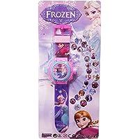 MJ Ragav Cartoon Chatcter Images Frozen Projector Watch, (Multicolour) Best Digital Toy Watch for Girls