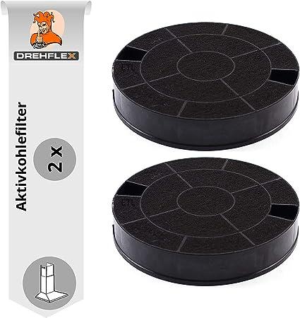 DREHFLEX AK31-2, 2 filtros de carbón activo para campana extractora, AEG-Electrolux 902979358-6, tipo 29, EHFC29, E3CFT29, dimensiones aprox. 193 mm: Amazon.es: Grandes electrodomésticos