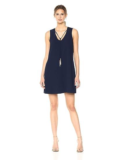 54220c92b1b6e Trina Turk Women s Arleen Carmel Crepe Sleeveless Dress