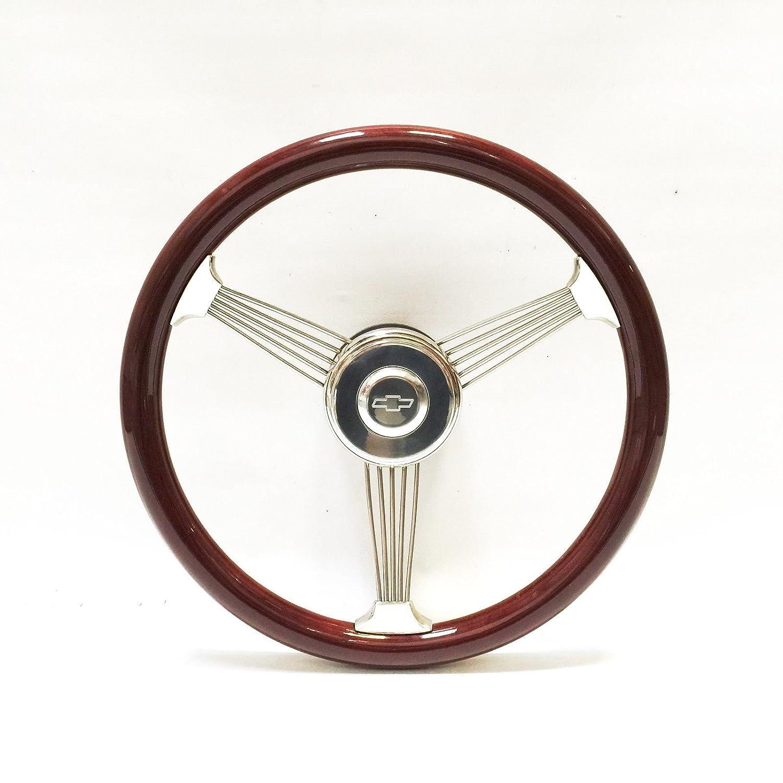 15 Mahogany Banjo Steering Wheel Vintage 1948-59 Chevy Truck w//Ididit Column