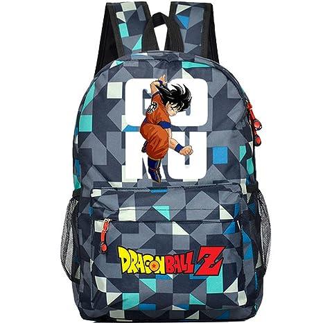 Siawasey Dragon Ball ZAnime Goku Mochila de Cosplay, Mochila para Ordenador Portátil, Escuela,
