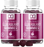 Elderberry Gummies with Zinc Vitamin C for Adults Kids for Immune Support Booster Supplement - Sambucus Black Elderberry…